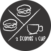 2 SCONES 1 CUP